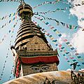 Boudhnath Stupa In Nepal by Raimond Klavins