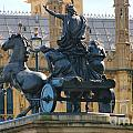 Boudicca Statue And Parliament 5805 by Jack Schultz