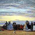 Boudin's The Beach At Villerville by Cora Wandel