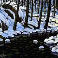 Boulder Brook In Winter by Frank Wilson