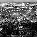 Boulder Colorado City Lights Panorama  Black And White by James BO  Insogna
