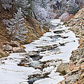 Boulder Creek Frosted Snowy Portrait View by James BO  Insogna