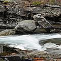 Boulders In Mcdonald Creek by Bruce Gourley