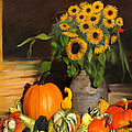 Bountiful Harvest - Floral Painting by Portraits By NC