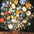 Bouquet In A Clay Vase by Jan Brueghel