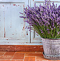 Bouquet Of Lavender In A Rustic Setting by Anna-Mari West