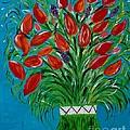 Bouquet Of Red by Suzette Schutze