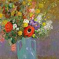 Bouquet Of Wild Flowers  by Odilon Redon