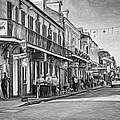 Bourbon Street Afternoon - Paint Bw by Steve Harrington