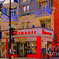 Boutique Erotique Romance Mont Royal The Love You Make Is Equal To The Love You Take City Scene Art by Carole Spandau