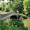 Bow Bridge And Rowboat Nyc by Christiane Schulze Art And Photography
