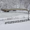 Bow Bridge Central Park Winter Wonderland by Susan Candelario