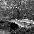 Bow Bridge Nyc In Black And White by Christiane Schulze Art And Photography