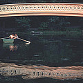 Bow Bridge Rowboat Central Park by Tom Wurl