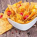 Bowl Filled With Nachos by Handmade Pictures