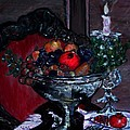Bowl Of Holiday Passion by Helena Bebirian
