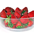 Bowl Of Strawberries by Kaye Menner
