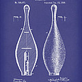 Bowling Pin 1895 Patent Art Blue by Prior Art Design