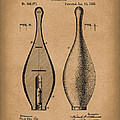 Bowling Pin 1895 Patent Art Brown by Prior Art Design