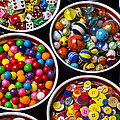 Bowls Of Buttons And Marbles by Garry Gay