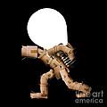 Box Character Carrying Light Bulb by Simon Bratt Photography LRPS