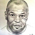 Boxer And Actor Mike Tyson by Jim Fitzpatrick