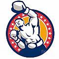 Boxer Boxing Punching Jabbing Retro by Aloysius Patrimonio