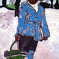 Boy Carrying Coal Circa 1901 by Saundra Myles