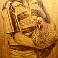 Boy With Chicken by Joe Pagac