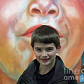 Boy With His Portrait by Lauren Leigh Hunter Fine Art Photography