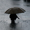 Boy With Umbrella by Teresa Herlinger