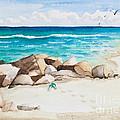 Boynton Beach Inlet Watercolor by Michelle Wiarda-Constantine