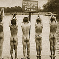Boys Bathing In The Park Clapham by English Photographer