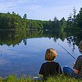 Boys Fishing by Diane Diederich