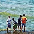 Boys On The Beach by Mary Machare