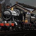 Br Steam Train And Gwr Pannier Tank by Ken Brannen