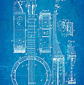 Bradbury Banjo Patent Art 1882 Blueprint by Ian Monk