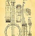 Bradbury Banjo Patent Art 1882 by Ian Monk