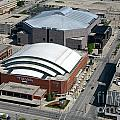 Bradley Center And Us Cellular Arena by Bill Cobb