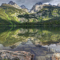 Bradley Lake Reflection - Grand Teton National Park by Gary Whitton