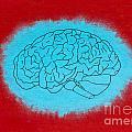 Brain Blue by Stefanie Forck