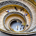 Bramante Spiral Staircase In Vatican City by Pablo Lopez