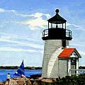 Brant Point Lighthouse Nantucket Massachusetts by Christine Hopkins