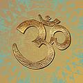 Gold Brass Om Mandala by ReadyForYoga Online-Shop