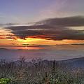 Brasstown Bald At Sunset by Debra and Dave Vanderlaan