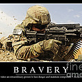 Bravery Inspirational Quote by Stocktrek Images