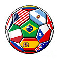 Brazil 2014 - Soccer With Various Flags by Michal Boubin