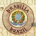 Brazil Coat Of Arms by Debbie DeWitt