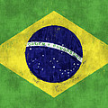 Brazil Flag by World Art Prints And Designs