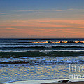 Breakers At Sunset by Louise Heusinkveld